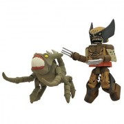 Diamond Select Toys Marvel Minimates Series 47: X-Men vs. Brood: Wolverine (Brood Infection Version) and Brood 2-Pack