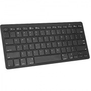 OMOTON Ultra-Slim Bluetooth Keyboard for iPad Pro 9.7 iPad Pro 12.9 iPad Air iPad Mini iPad 4/ 3/ 2 iPhone 7 Plus/ 7/ 6S Plus /6S etc and Other Bluetooth Enabled Devices For Apple Black