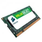 Memorie Corsair SO-DIMM ValueSelect 4GB DDR3, 1066MHz, PC3 - 8500, CL 7, CM3X4GSD1066