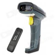 Bateria recargable de mano inalambrico USB Barcode Scanner Laser Visible - Negro