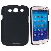 Samsung Galaxy A7 a7, Excusive Sleek Design Quality Brushed Metal Hard Back Case Cover Motomo (black)