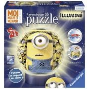 Ravensburger 12180-Puzzle, motivo: Minions 72 pezzi con supporto, luminosa