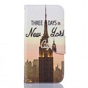 Para Samsung Galaxy S7 Edge Porta-Cartão / Carteira / Com Suporte / Flip / Estampada Capinha Corpo Inteiro Capinha Paisagem Urbana Macia