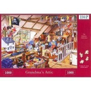 1000 Piece Jigsaw Puzzle Grandma's Attic - Full Of Toys & Memories by The House of Puzzles