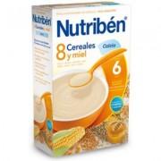 NUTRIBEN 8 CEREALES Y MIEL CALCIO 600 G.