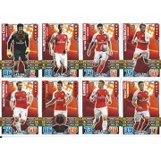 Match Attax 2015/2016 Arsenal Team Base Set Plus Star Player, Captain & Away Kit Cards 15/16