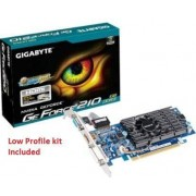 Gigabyte NVidia GV-N210D3-1GI GeForce 210 1GB 64-bit DDR3 PCI Express 2.0 x16 HDCP Ready Low Profile Ready Graphics Card