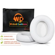 Wicked Cushions Beats Replacement Ear pads - Compatible with Studio 2.0 Wired / Wireless Over Ear Headphones by Dr. Dre ONLY ( DOES NOT FIT SOLO 2.0 )   White