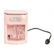 Dollhouse Coffee Maker Pink by Superior Dollhouse Miniatures