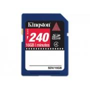 Kingston SDV video 240 perc - 16GB memóriakártya