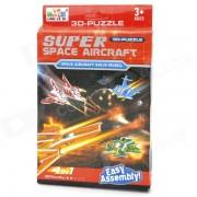 Aviones Super Space estilo DIY 3D Paper Foam Puzzle - Multicolor