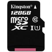 Kingston Digital 128GB microSDXC Class 10 Flash Card with Adapter (SDCX10/128GB)