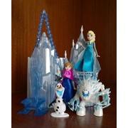 Princess Castle & Ice Palace Play Set Doll House Anna Elsa olaf toy (A)