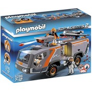 PLAYMOBIL Spy Team Command Vehicle, Top Agents 2, 144 Piece