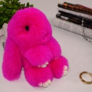 Lovely Dead Rex Rabbit Doll Pendant for Bag / Key Chains / Car Size 15.0 x 14.0 x8.0cm(Magenta)