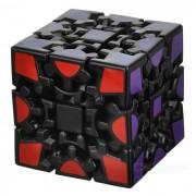 3 x 3 x 3 Wheel Gear Style Rubik's Cube - Black