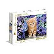 Clementoni - Jigsaw Puzzle - 500 Pieces - Ginger Cat In Flowers 30415.8