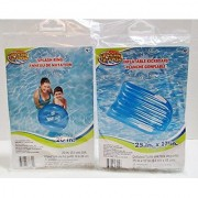 Boys Blue Inflatable Kick Board & Splash Ring Set - Splash-N-Swim - Swimming Pool Toys