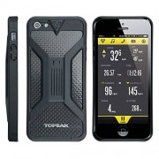 Topeak - Ride Funda II para iPhone 5 Teléfono Soporte para manillar de bicicleta, color negro, metal, negro, talla única
