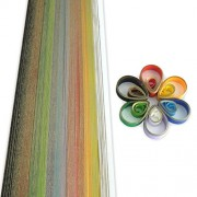 NPRC Single colour Quilling Papers of 10 Different Colours