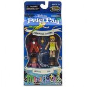 Disney Peter Pan Minimates Exclusive Mini Figure 4-pack Captain Hook Tinkerbell Michael & John
