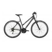 Serious Cedar Hybrid hybride fiets Dames zwart Hybride fietsen Dames