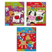 Learning Flash Cards for Kids: Alphabet Numbers Pictures and Words Themes. Paper Craft. 3 PACK (26 cards/pack)