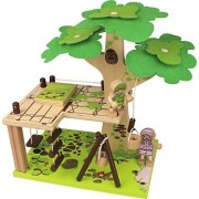 Nicko Q-PACK Tree House Wooden Toy Set - Build It Yourself Construction
