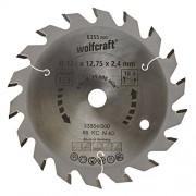 Wolfcraft 6355000 127 x 12.75 x 2.4mm CT Circular Saw Blade with 18 Teeth - Green Series