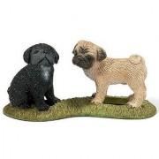 Schleich Pug Puppies Toy Figure