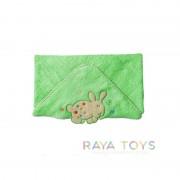 Детска хавлия за баня с качулка зелена Babyono 172 05