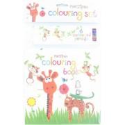 Robert Frederick Hanging Scimmia libro da colorare set con 6 matite, colori assortiti