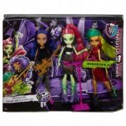 Monster High Fierce Rockers Venus McFlytrap,Clawdeen,Jinafire