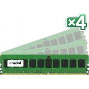 Crucial - Memoria RAM 32GB (8GB x4) DDR4 2133Mhz Reg., CT4K8G4RFD8213