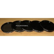 Numex 5PCS 58MM ND2 ND4 ND8 ND16 ND24 ND FILTER KIT FOR CANON EOS 1000D 1100D 550D 500D 1100D 1200D 600D 650D 18-55MM & 55-250MM LENS - FREE 4PCS FILTER POUCH ...