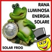 RANA LUMINOSA ad ENERGIA SOLARE LUCE LED