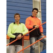 """Vision Hi-Vis Fluoro Long Sleeve Polo Shirt"""