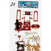 Knights & Armor Playset (6 Knights Weapons 2 Horses Cannon or Catapult) (Bagged) Playsets