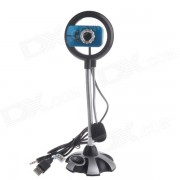 RAYANTS LY-8815 USB 2.0 Wired 5.0MP HD Webcam w/ Night Vision Light / Microphone - White + Blue