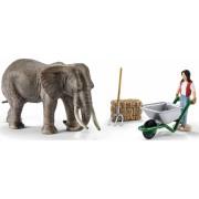 Set Figurine Schleich - Ingrijire Elefant - 41409