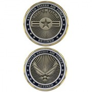 United States Military US Armed Forces Air Force Retired - Good Luck Double Sided Collectible Challenge Pewter Coin by Eagle Crest