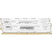 Ballistix Sport LT Kit Memoria da 8 GB (4 GBx2), DDR4, 2400 MT/s, (PC4-19200) DIMM 288-Pin - BLS2C4G4D240FSC, Bianco