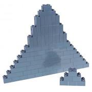 Premium Big Briks Gray Basic Builder Set #1 - 84 Pack - (Big LEGO DUPLO Compatible) - Large Pegs