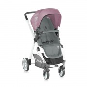 Бебешка комбинирана количка Lorelli EVO 2in1 Grey and Pink 2015