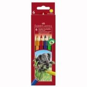 Creioane Colorate 6 culori Jumbo Faber-Castell
