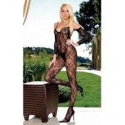 Catsuit Flower Lace - rosu