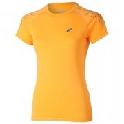 Asics Women's Stripe Running T-Shirt - Fizzy Peach - XS