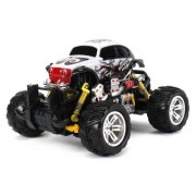 Graffiti Volkswagen Beetle Electric Rc Off Road Monster Truck 1:18 Scale 4 Wheel Drive Rtr, Working Hinged Spring Suspension, Perform Various Drifts (Colors May Vary)