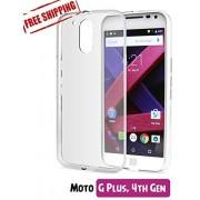 Unistuff™ Rubberised Flexible Ultra Thin Bumper Back Case Cover for Motorola Moto G 4th Gen / Moto G4 / Moto G Plus, 4th Gen / Moto G4 Plus (Transparent)