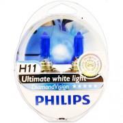 2 ampoules PHILIPS H11 Diamond Vision 55W